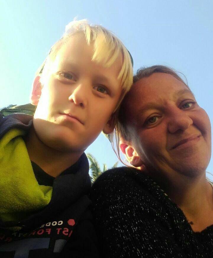 Соня Бергфельд и её сын