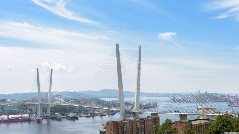 Золотой мост, Владивосток, Россия.