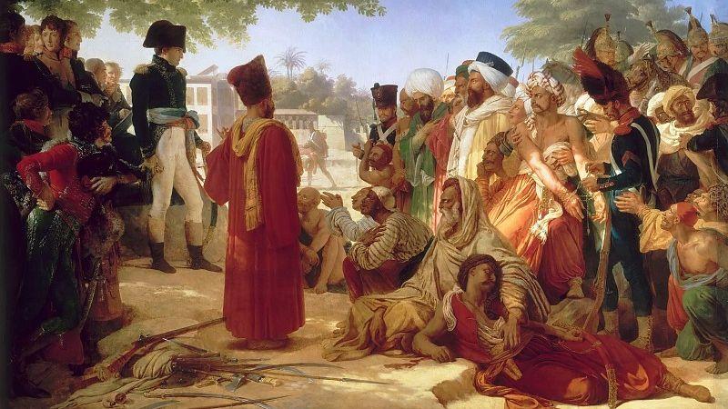 Пьер-Нарсис Герен. Наполеон прощает мятежников в Каире 30 октября 1798. 1808
