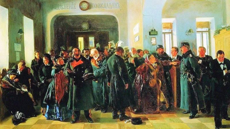 Владимир Маковский. Крах банка. 1880