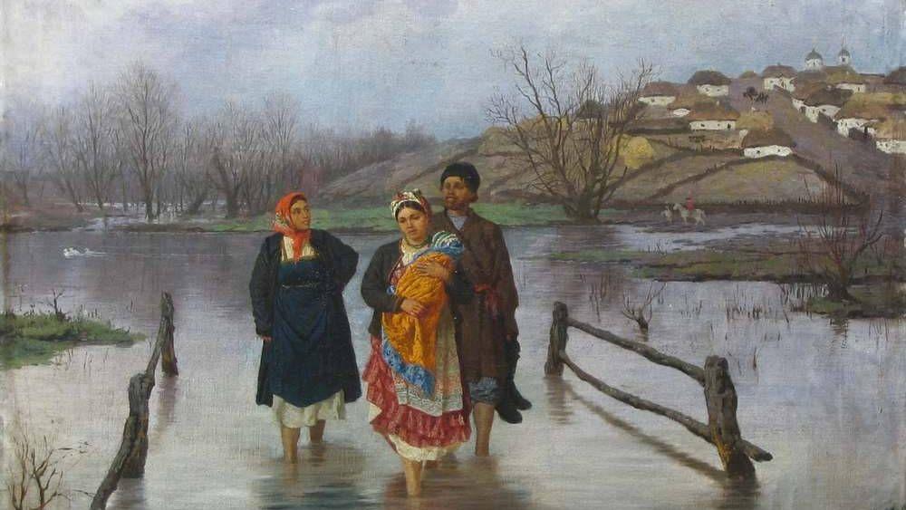 Трутовский Константин Александрович. В половодье