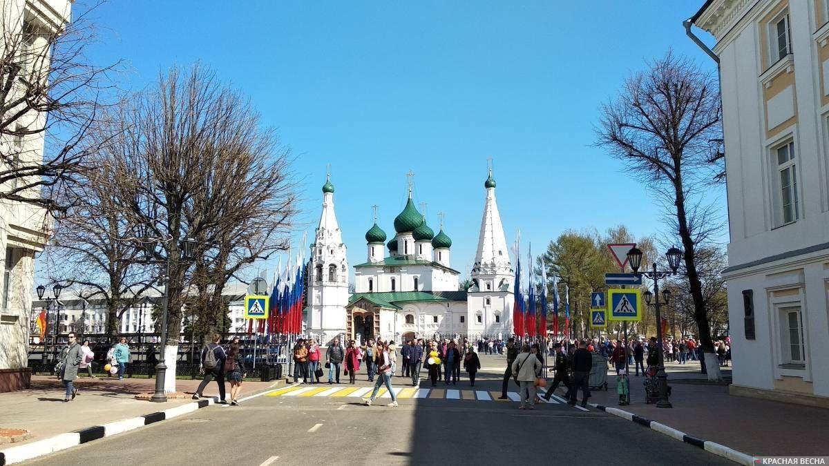 Советская площадь Ярославля. 1 мая 2019