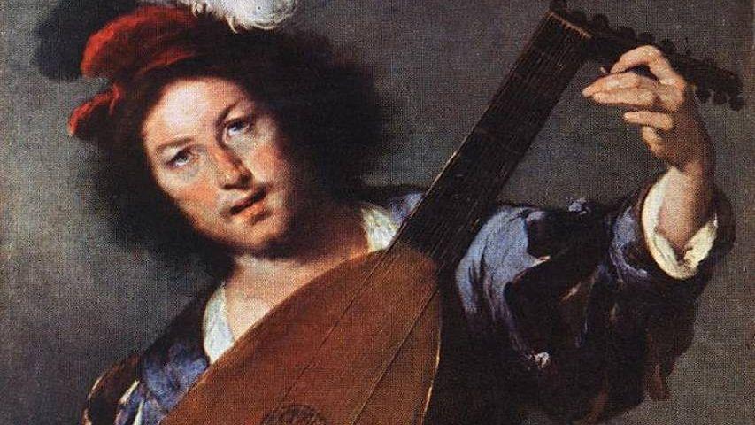 Бернардо Строцци. Игрок на лютне. Фрагмент. 1635