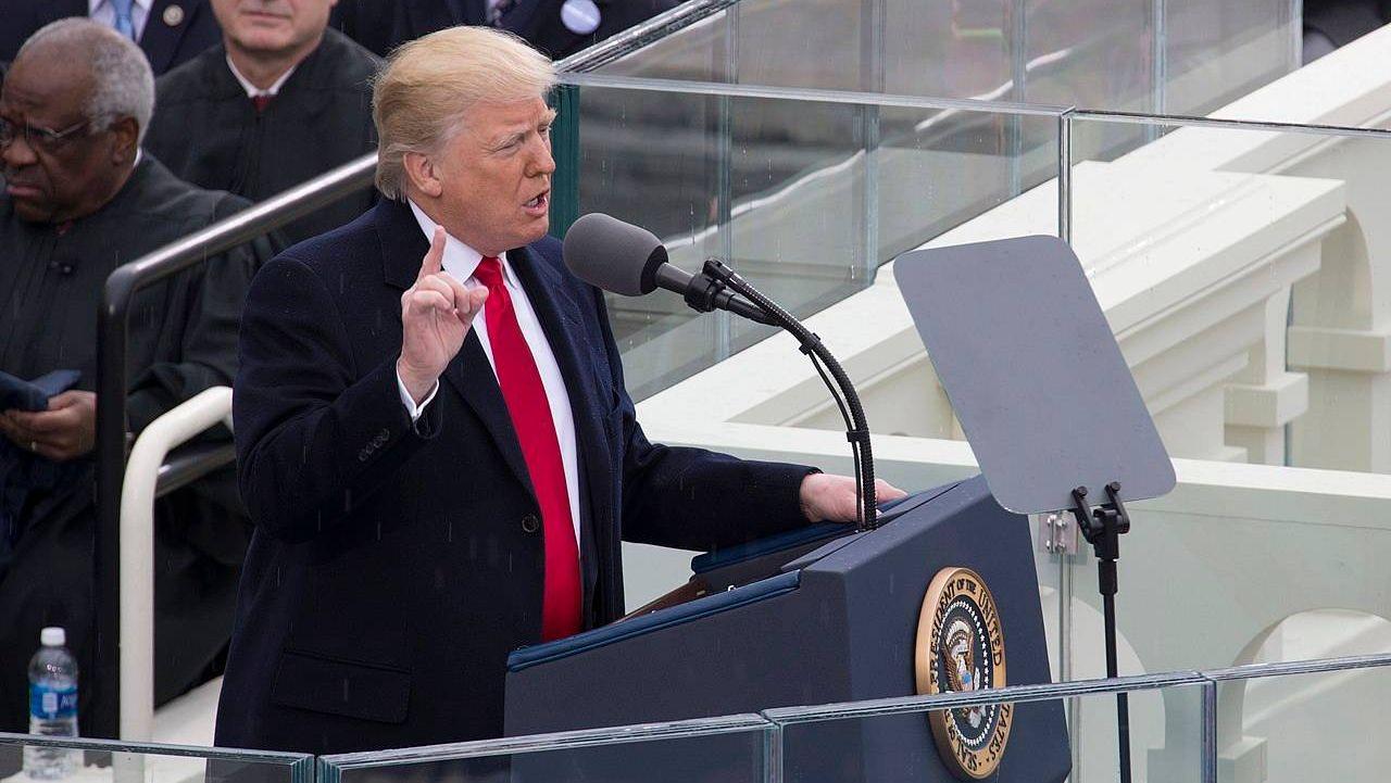 Трамп говорит речь на инаугурации