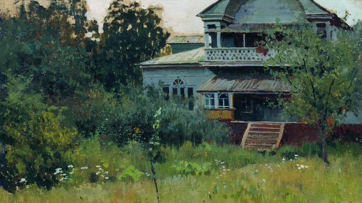 Алексей Степанов. Усадьба летом. 1882