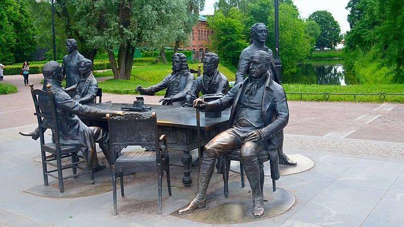 Скульптурная группа «Зодчие Санкт-Петербурга», Александровский парк