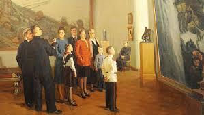 Вера Шестакова. В Русском музее. 1949