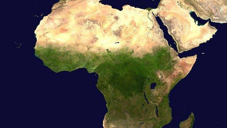 Африка, вид с воздуха