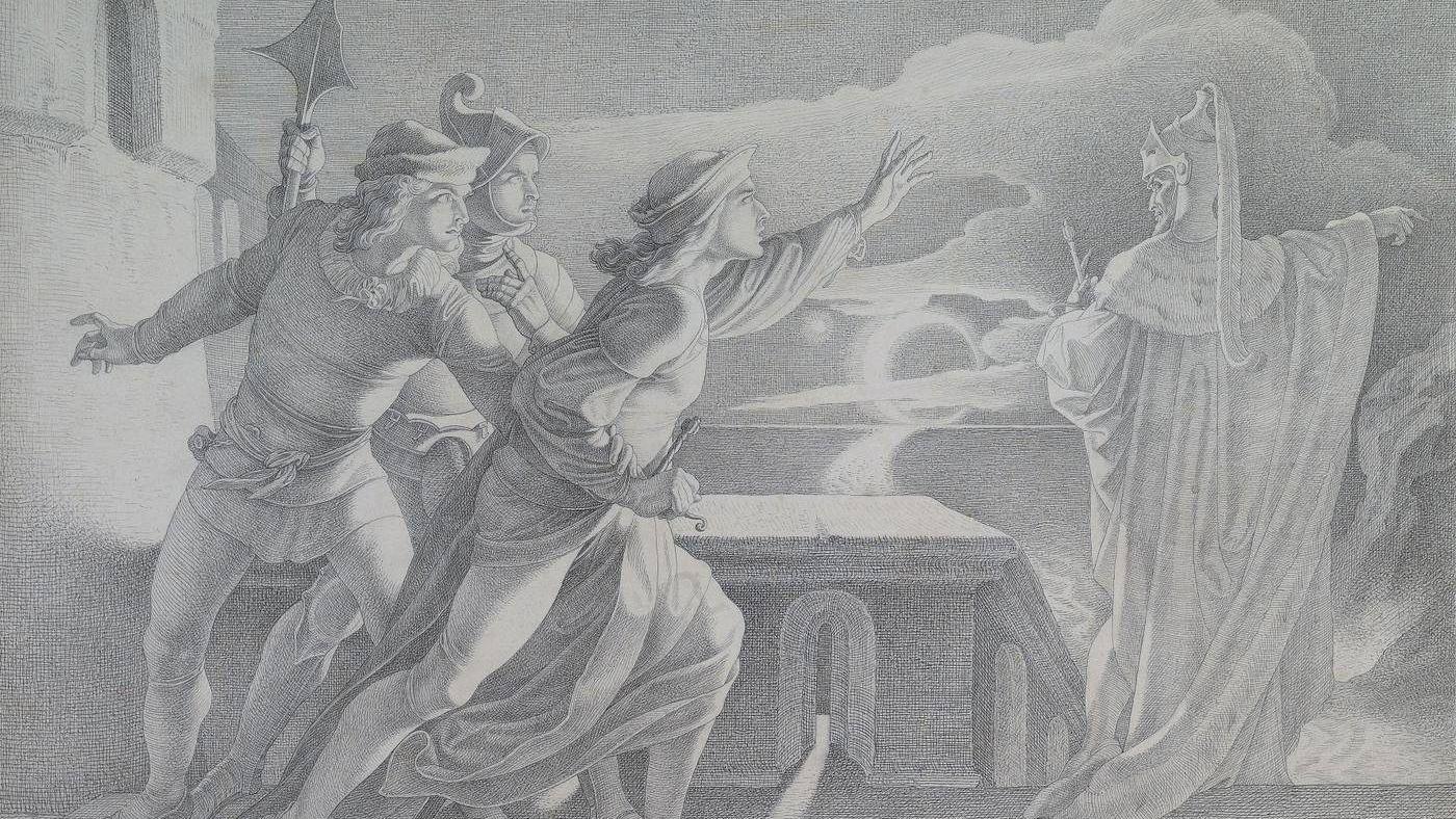 Адам Воглер. Гамлет и тень его отца. Середина XIX в.