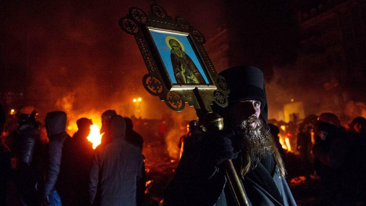Раскольники на майдане в Киеве в 2014 году