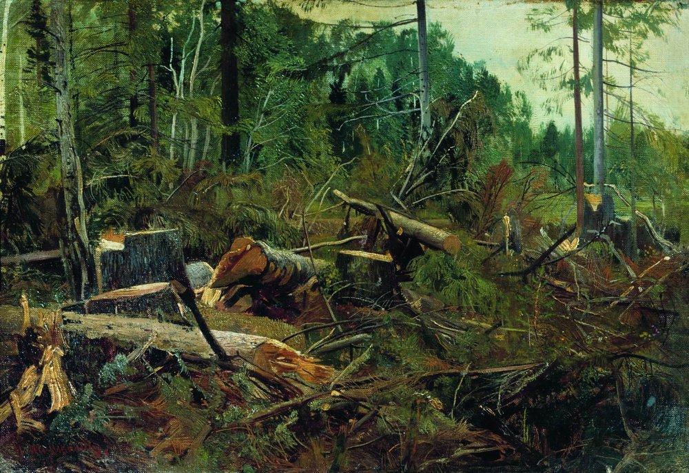 Иван Иванович Шишкин. Порубка. 1880-е