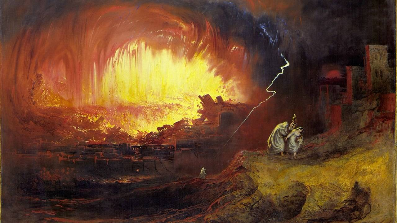 Джон Мартин.Уничтожение Содома и Гоморры,1852.