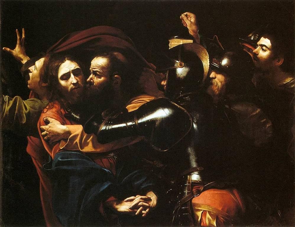 Караваджо. Поцелуй Иуды. 1602