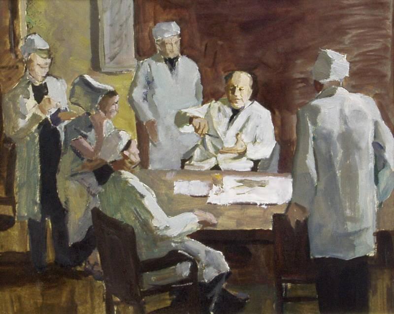 Мефодий Захаревич. Консилиум. 1950-е гг.