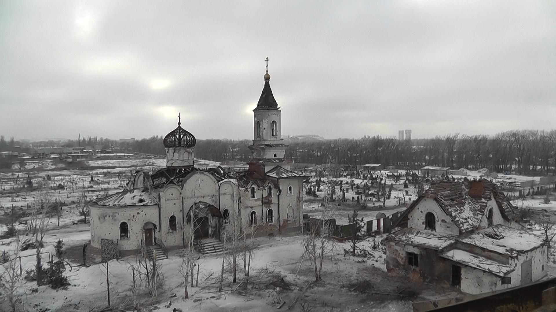 Вид на храм Иверского монастыря с «Трёшки»