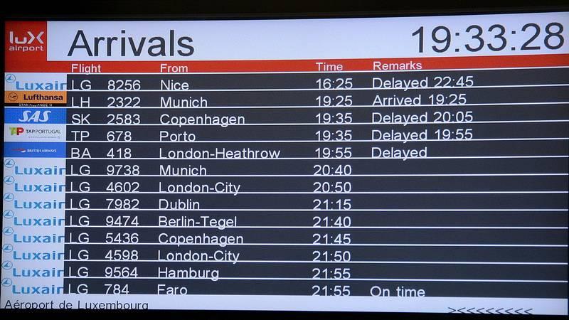 Задержка рейсов,аэропорт Люксембург