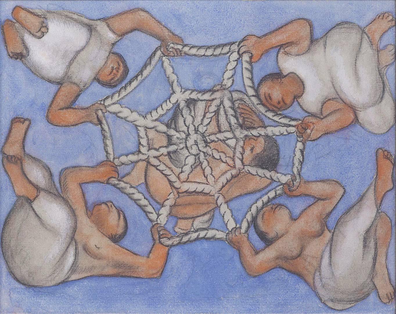 Диего Ривера. Эскиз для потолочной фрески в Чапингоo. 1927