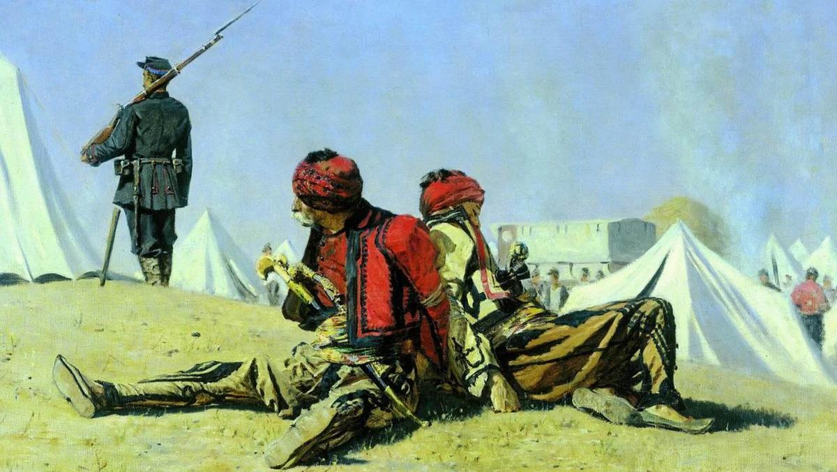 Василий Верещагин. Два ястреба. Башибузуки. 1883