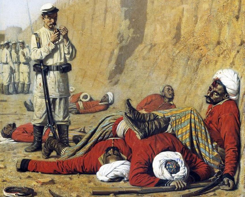 Василий Верещагин. После неудачи. 1868