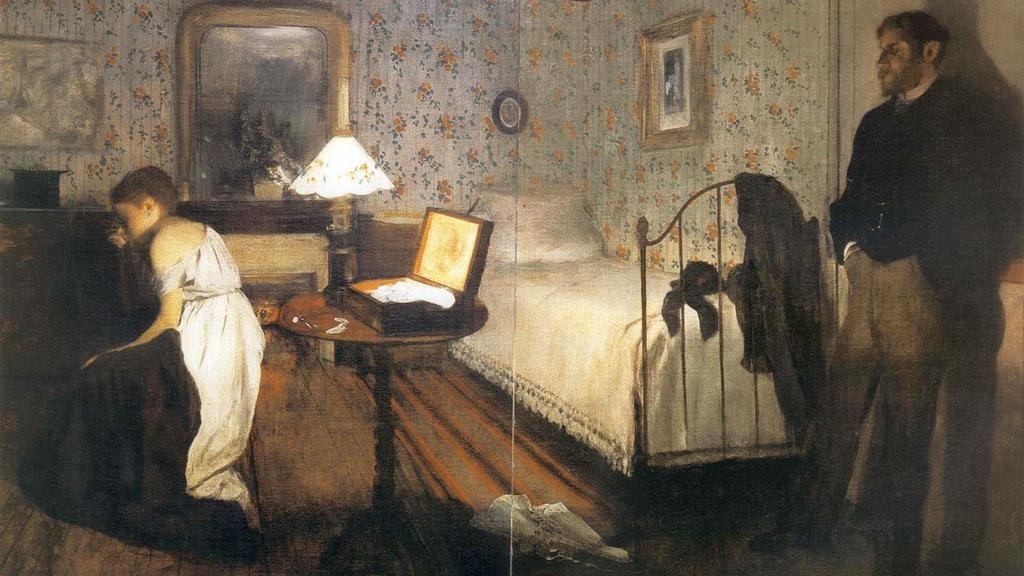Эдгар Дега. Интерьер (Насилие). 1869