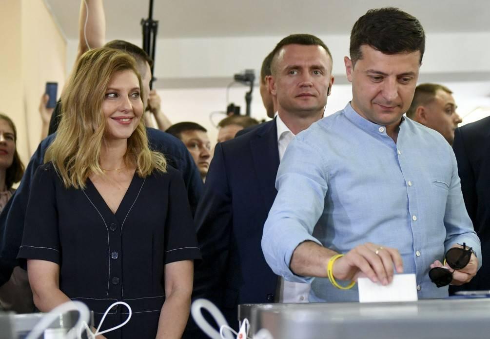 Владимир Зеленский голосует на парламентских выборах
