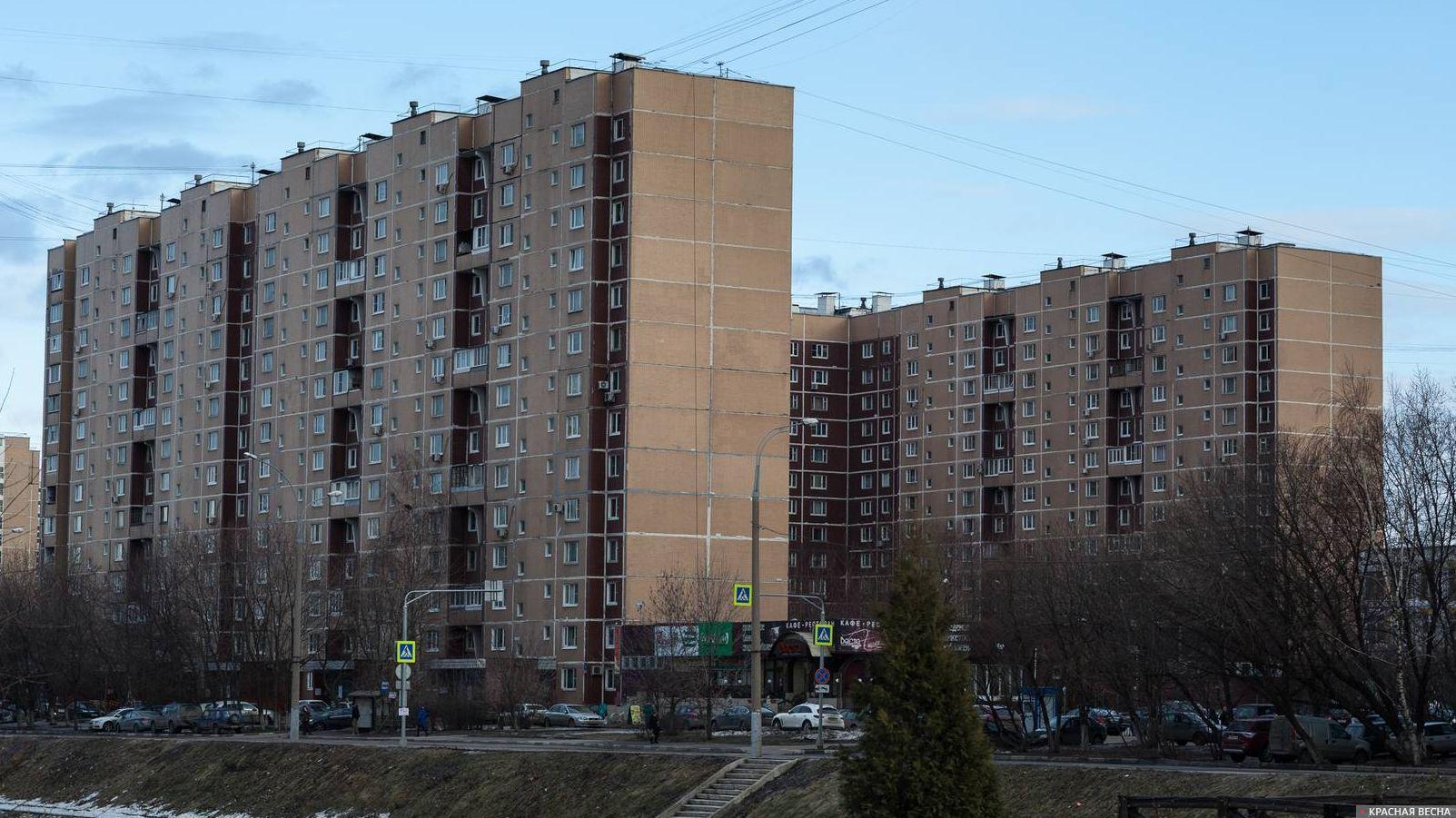 Москва. Многоэтажные дома.
