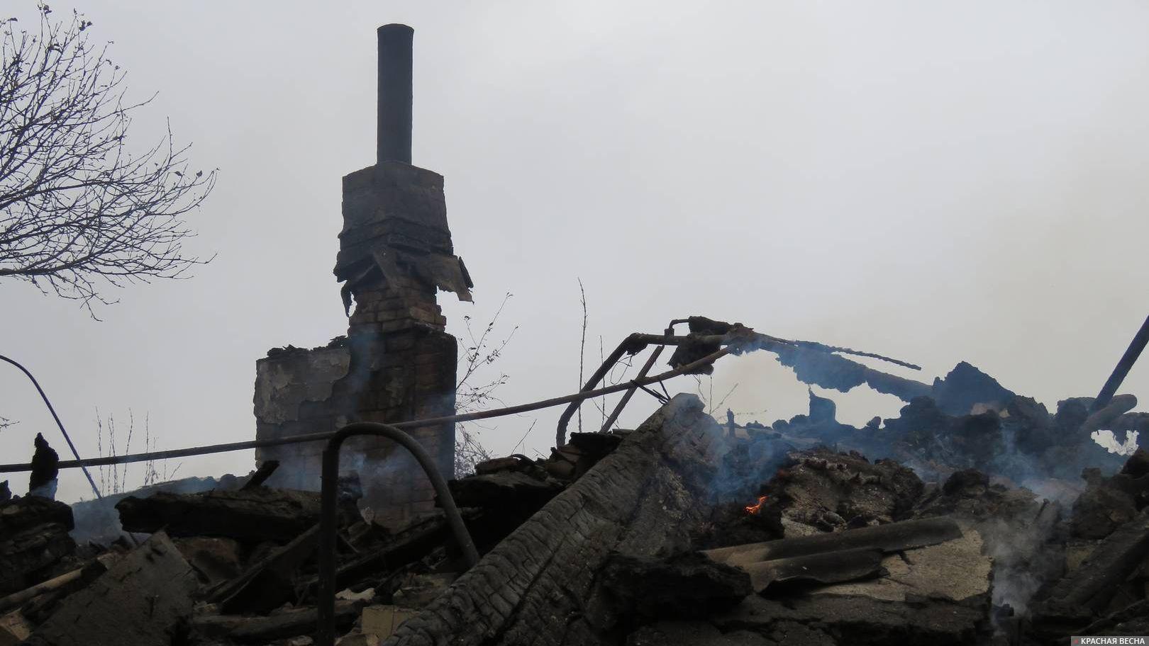 Разрушения после обстрела ВСУ. ДНР