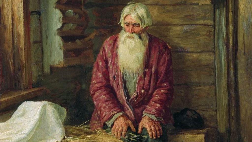 Василий Максимов. Пережил старуху. 1896