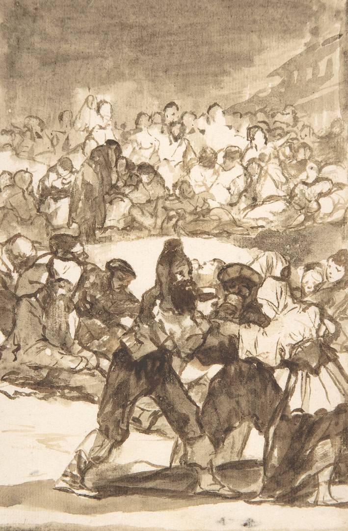 Франсиско Гойя. Толпа образует круг. Ок. 1812–1820