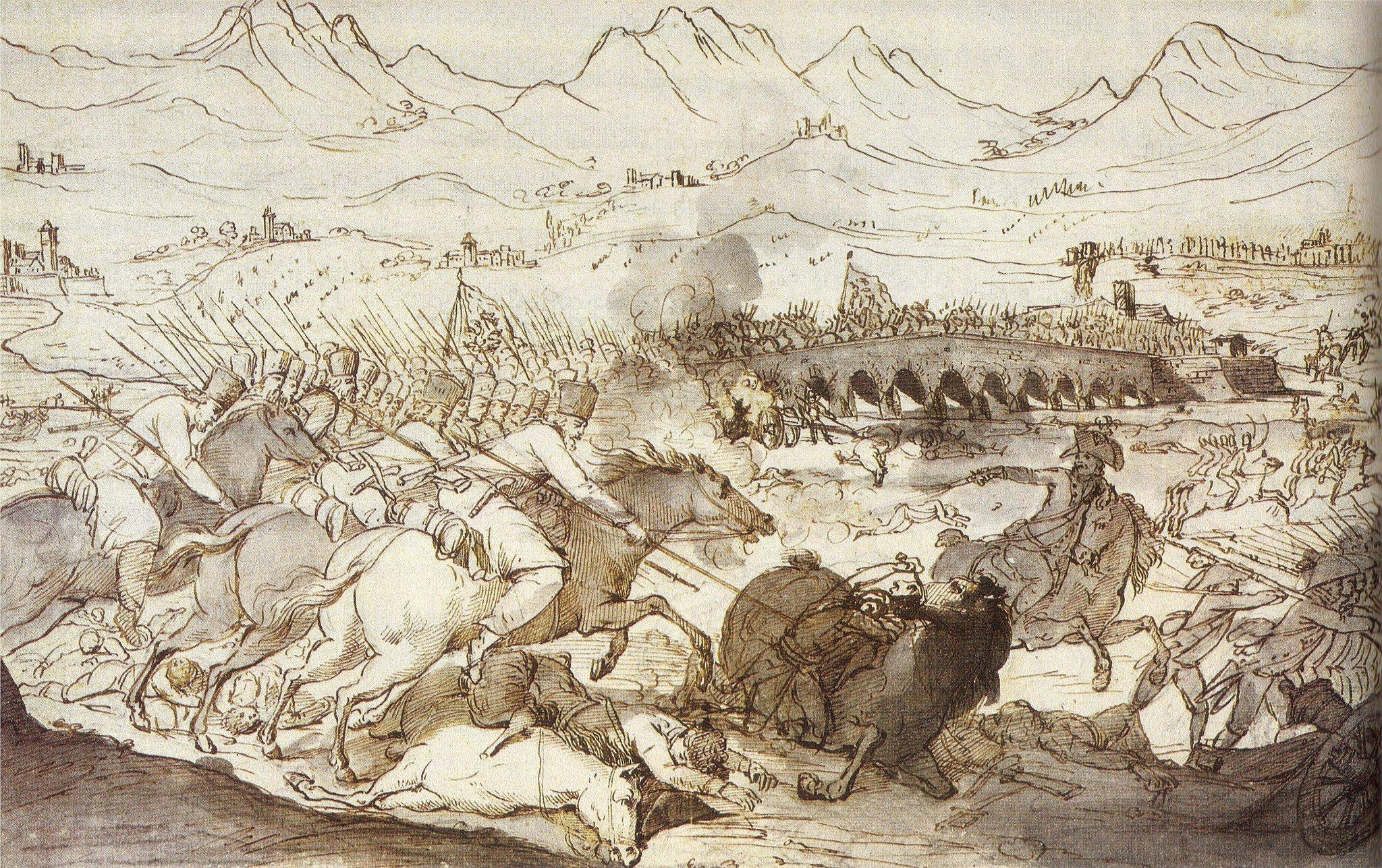 Неизв. художник. Сражение при Треббии 18 июня 1799 года. 1799