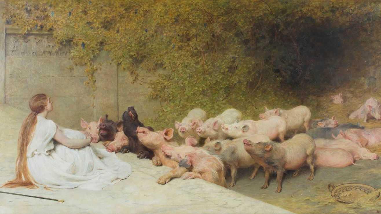 «Цирцея со свиньями». Брайтон Ривьер. 1896