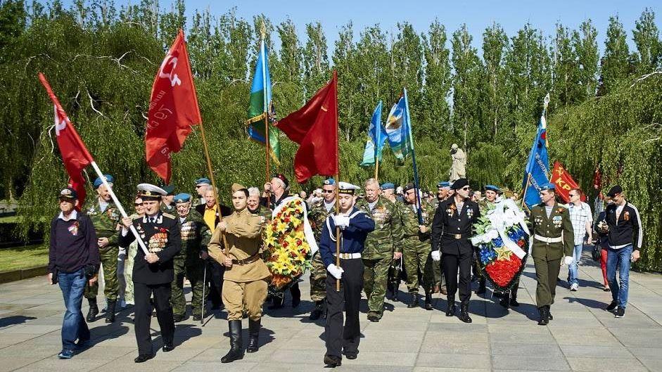 Русские немцы на день победы в Германии