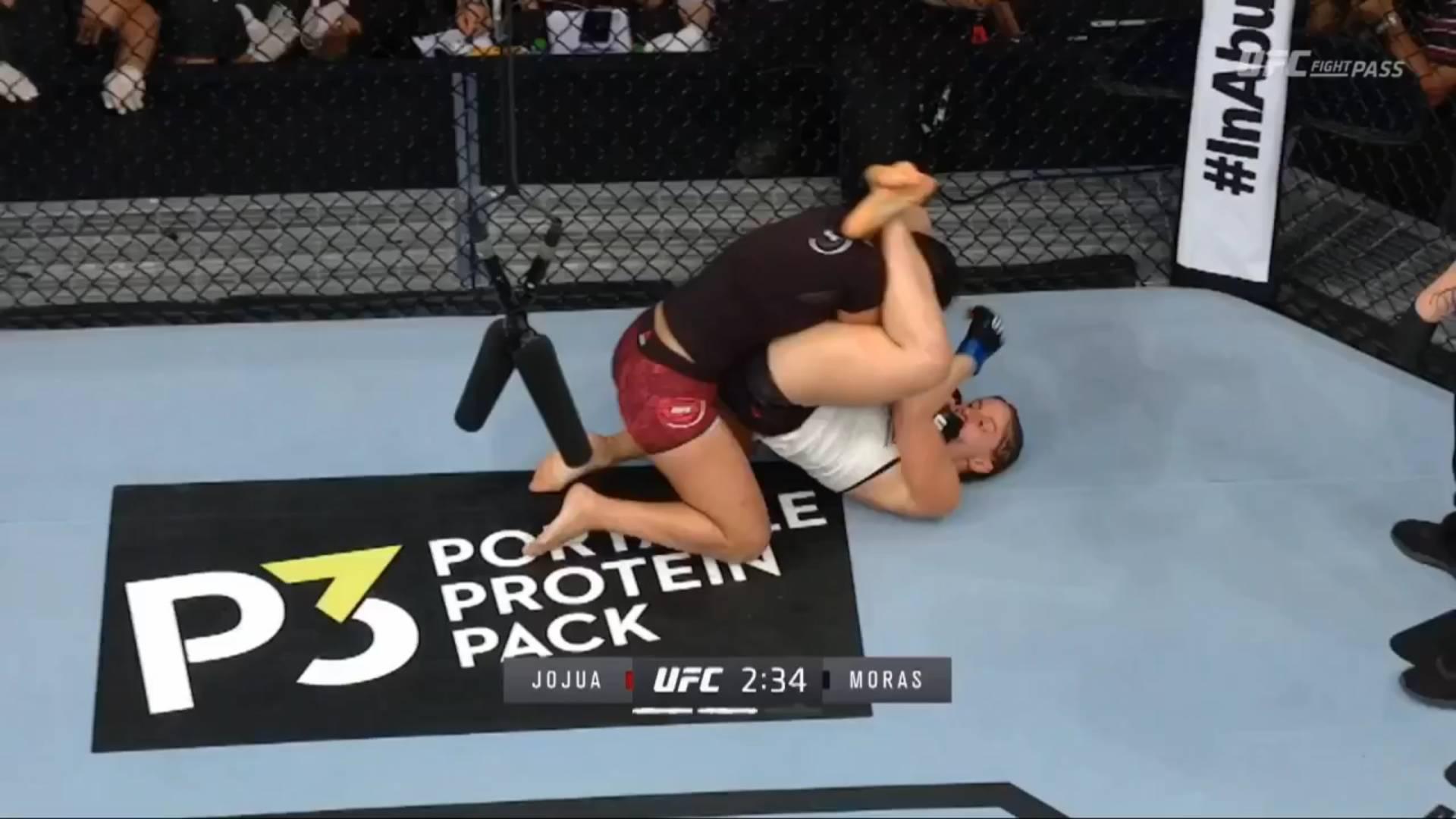 Джоджуа - Морас. Борьба и удары в партере во 2-м раунде