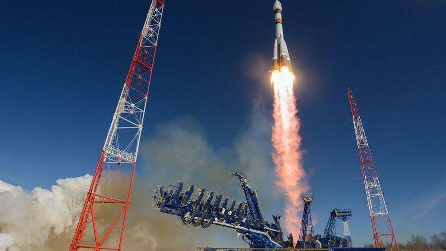 Пуск ракеты-носителя Союз-2 с космодрома Плесецк . Министерство обороны РФ