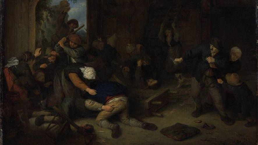 Адриан Янс ван Остаде. Драка крестьян.