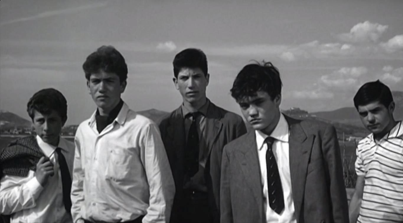 Образ итальянской молодежи с окраин. Цитата из х/ф Пазолини «Мама Рома» (1962)
