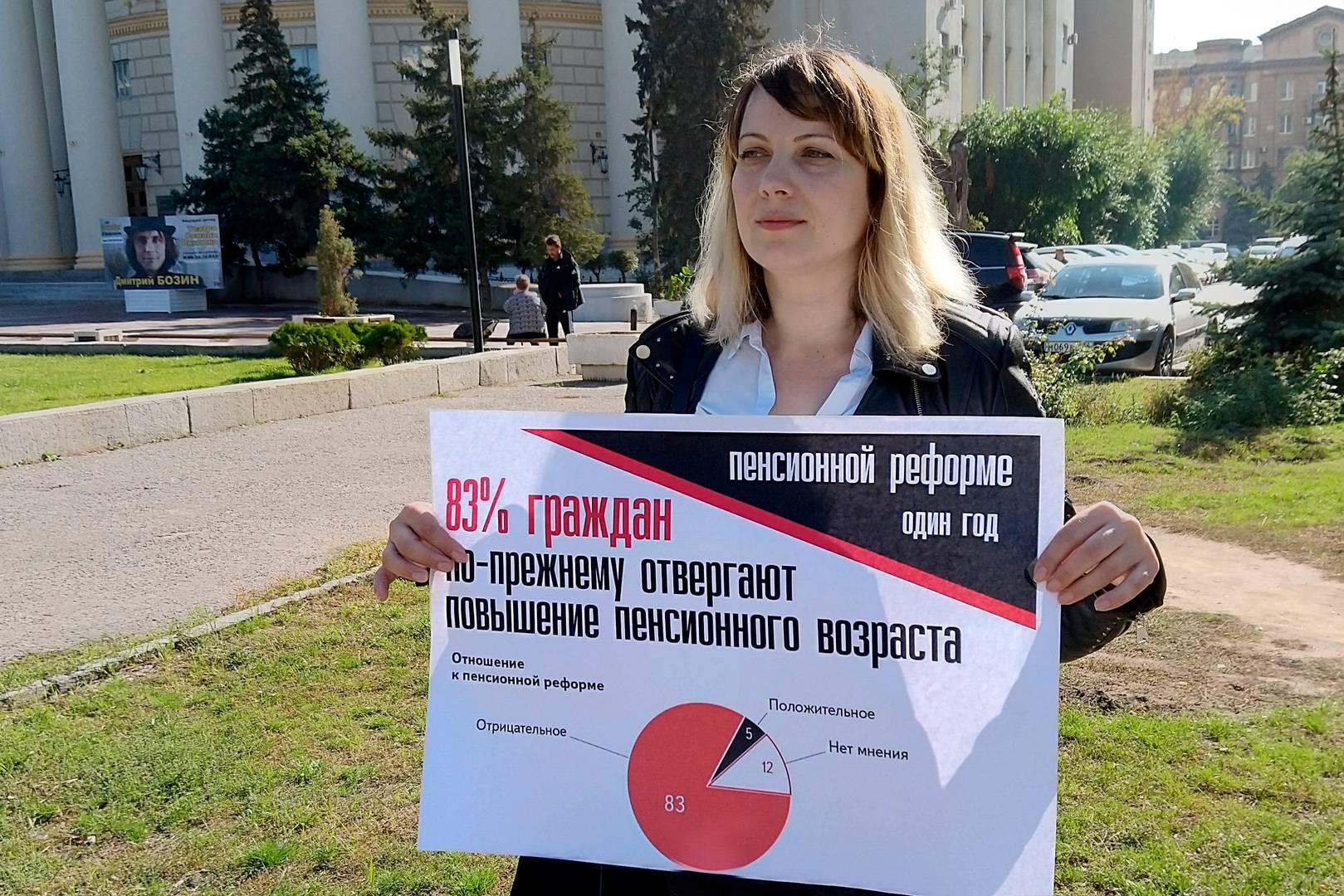 Большинство граждан против пенсионной реформы. Пикет 3 октября. Волгоград.