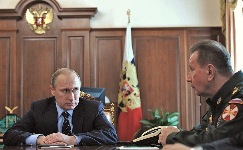 Президент России Владимир Путин с Виктором Золотовым [kremlin.ru]