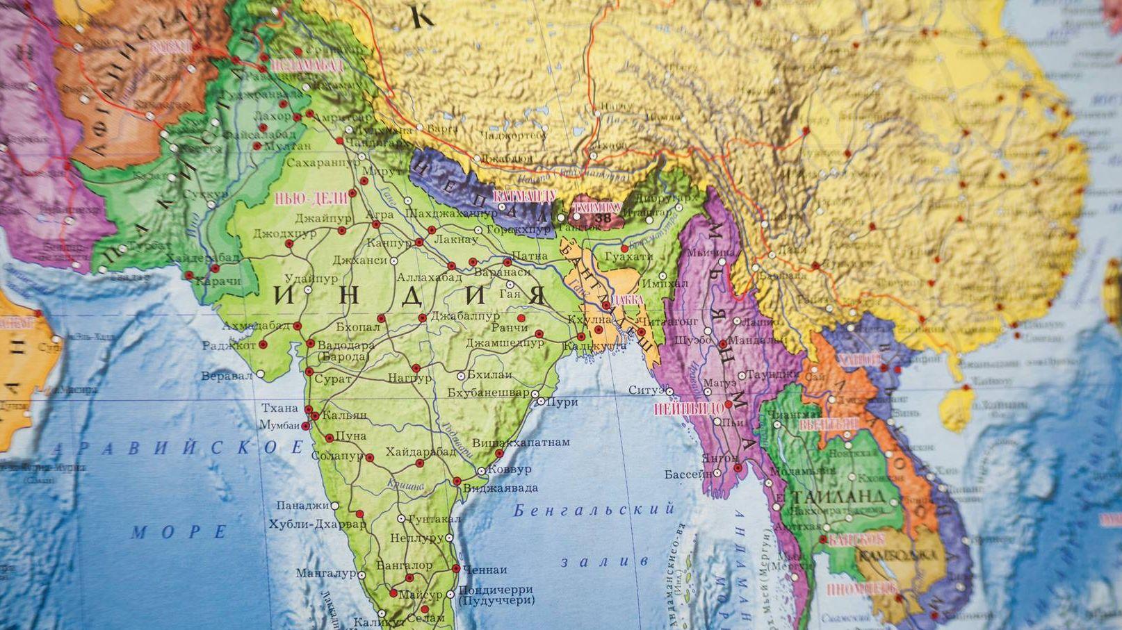 Индия, Карта мира