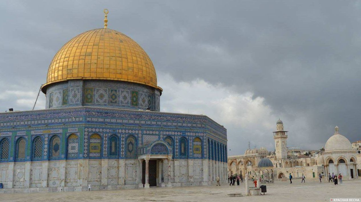 Храмовая гора. Мечеть Куббат ас-Сахра. Иерусалим