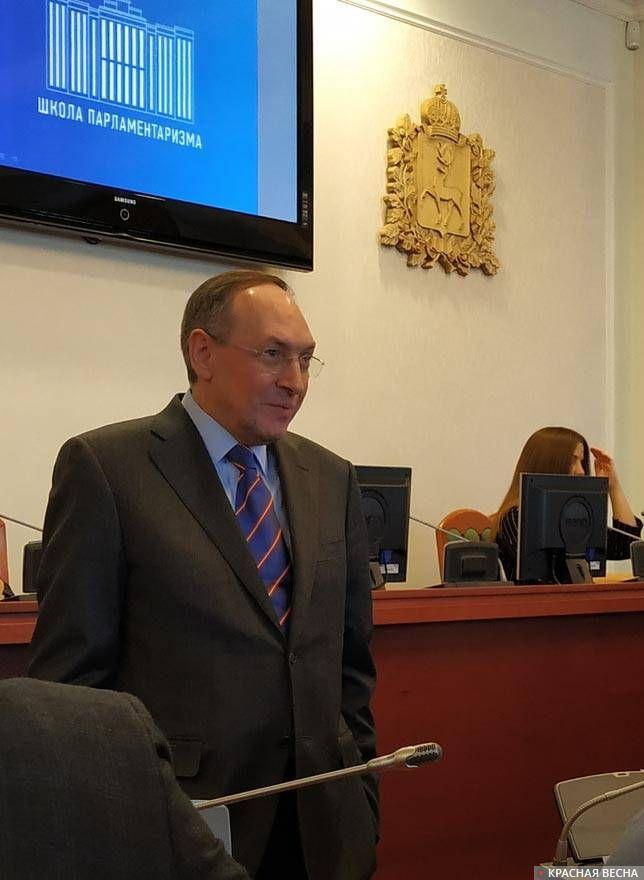 В.А. Никонов на встрече с молодежью