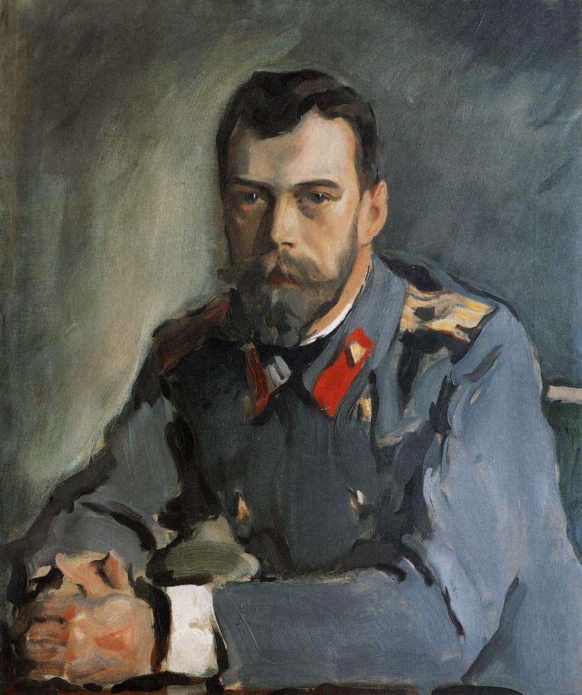 Валентин Александрович Серов. Портрет императора Николая II. 1900 год