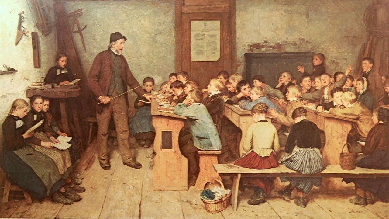 Альберт Анкер. Сельская школа в 1848 году. 1896 год