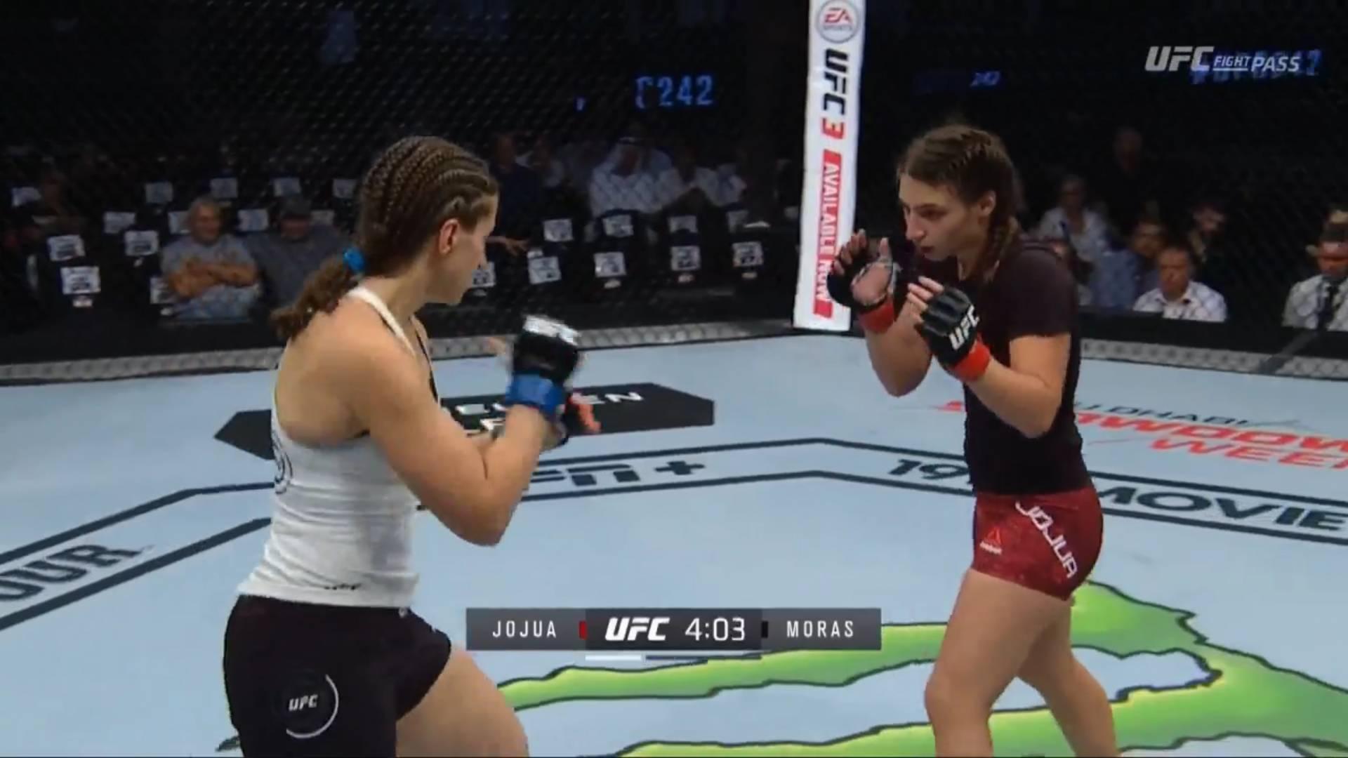 Бой Джоджуа - Морас в стойке в первом раунде