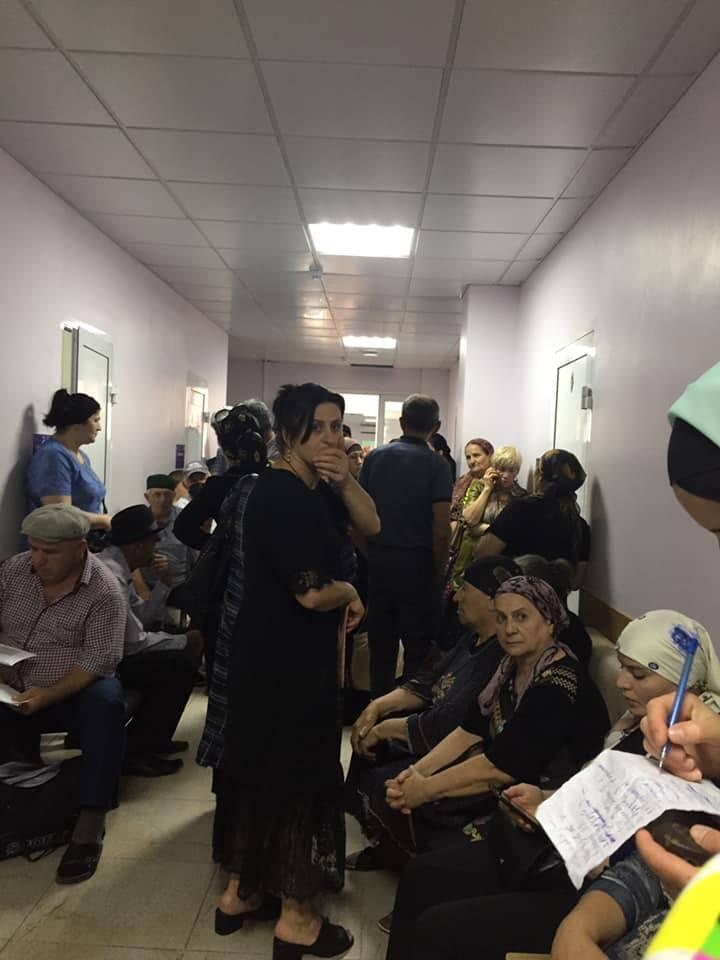 Очередь в поликлинике Республиканского онкологического центра Дагестана