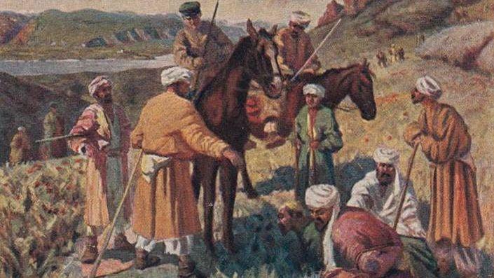 Л.Н. Веселовский. Поймали басмачей