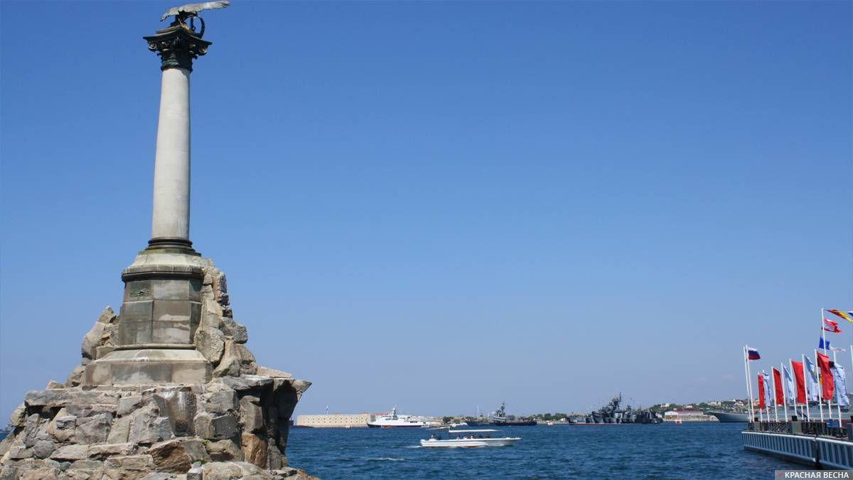 Боевой строй кораблей в Севастопольской бухте, день ВМФ 28.07.2019 г. Севастополь