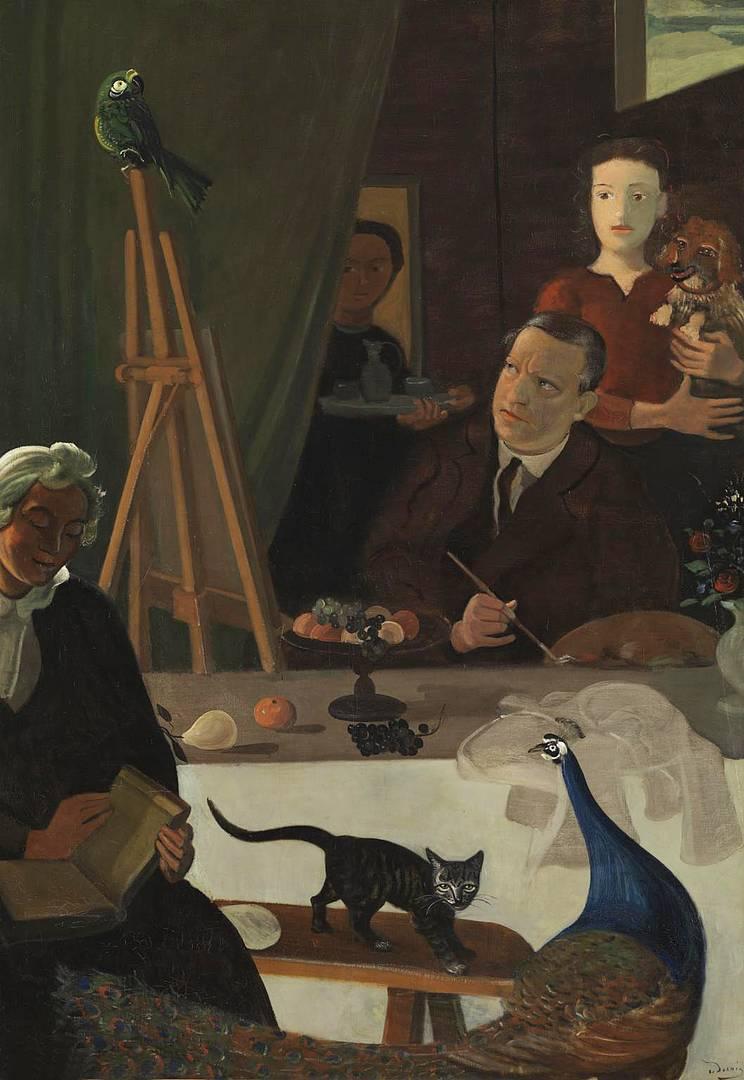 Андре Дерен. Художник и его семья. Ок. 1939