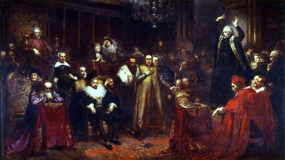 Ян Матейко. Проповедь Скарги. 1864