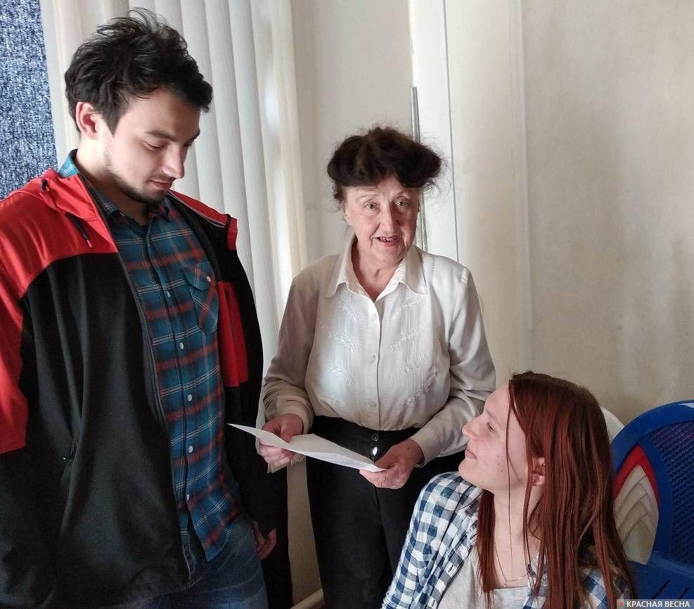 Галина Шлемская обсуждает пагубность пенсионной реформы со студентами ТГМУ